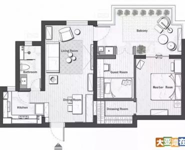 75平北欧风公寓,白+灰+粉,非常好看!