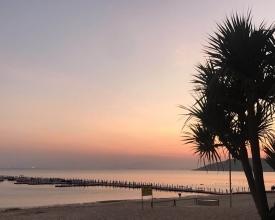 今天大亚湾十里银滩的天气也太好了吧!